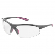 ERB Ella Safety Glasses - Gray Frame - Clear Lens
