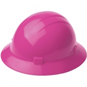 ERB 19199 Americana Full Brim Hard Hat - 4-Point Ratchet Suspension - Hi-Viz Pink
