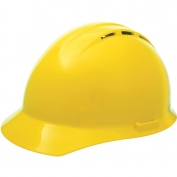 ERB 19252 Americana Vented Hard Hat - 4-Point Pinlock Suspension - Yellow