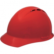 ERB 19254 Americana Vented Hard Hat - 4-Point Pinlock Suspension - Red