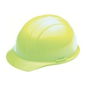 ERB 19320 Liberty Hard Hat - 4-Point Ratchet Suspension - Hi-Viz Lime