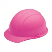 ERB 19369 Americana Hard Hat - 4-Point Ratchet Suspension - Hi-Viz Pink