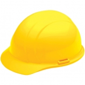 ERB 19822 Liberty Hard Hat - 4-Point Pinlock Suspension - Yellow