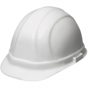 ERB 19951 Omega II Hard Hat - 6-Point Ratchet Suspension - White