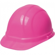 ERB 19989 Omega II Hard Hat - 6-Point Ratchet Suspension - Hi-Viz Pink