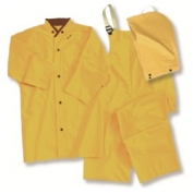 ERB 4035 PVC/Polyester 3-Piece .35mm Rain Suit - Yellow