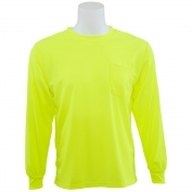 ERB 9007 Non ANSI Birdseye Mesh Long Sleeve Safety Shirt - Yellow/Lime