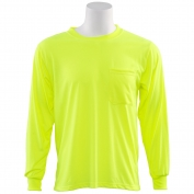 ERB 9602 Non ANSI Long Sleeve Safety Shirt - Yellow/Lime