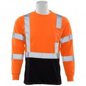 ERB 9804S Class 3 Black Bottom Moisture Wicking Safety Shirt - Orange