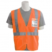 ERB S363ID Class 2 Mesh Safety Vest with ID Pocket - Orange