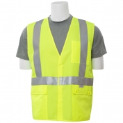 ERB S365 Class 2 Solid Self Extinguishing Safety Vest - Yellow/Lime