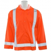 ERB S373 Class 3 Lightweight Oversized Rain Jacket - Orange