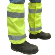 ERB S486 Hi-Viz Reflective Leg Gaiters - Yellow/Lime