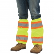 ERB S487 Two-Tone Reflective Leg Gaiters - Yellow/Lime