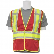 ERB S530 Non-ANSI Mesh Expandable Safety Vest - Red