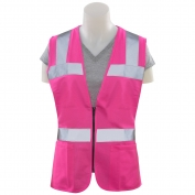 ERB S721 Non-ANSI Women's Safety Vest with Zipper - Pink
