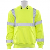 ERB W376 Class 3 Hooded Safety Sweatshirt - Yellow/Lime