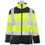 ERB W651 Class 2 Women's Soft Shell Safety Jacket - Yellow/Black