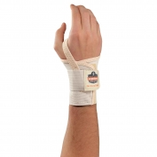 Ergodyne ProFlex 4000 Single Strap Wrist Support - Left Hand - Tan