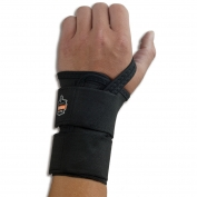 Ergodyne ProFlex 4010 Double Strap Wrist Support - Left Hand - Black