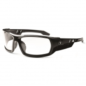 Ergodyne Odin 50003 Safety Glasses - Black Frame - Clear Fog-Off Anti-Fog Lens
