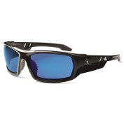 Ergodyne Odin 50092 Safety Glasses - Black Frame - Blue Mirror Lens