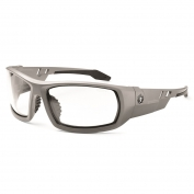 Ergodyne Odin 50103 Safety Glasses - Matte Gray Frame - Clear Fog-Off Anti-Fog Lens