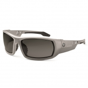 Ergodyne Odin 50133 Safety Glasses - Matte Gray Frame - Smoke Fog-Off Anti-Fog Lens