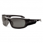 Ergodyne Odin 50433 Safety Glasses - Matte Black Frame - Smoke Fog-Off Anti-Fog Lens