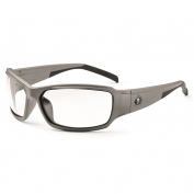 Ergodyne Thor 51103 Safety Glasses - Matte Gray Frame - Clear Fog-Off Anti-Fog Lens