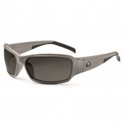 Ergodyne Thor 51133 Safety Glasses - Matte Gray Frame - Smoke Fog-Off Anti-Fog Lens