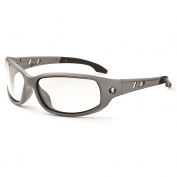 Ergodyne Valkyrie 54103 Safety Glasses - Matte Gray Frame - Clear Fog-Off Anti-Fog Lens