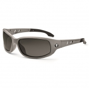 Ergodyne Valkyrie 54133 Safety Glasses - Matte Gray Frame - Smoke Fog-Off Anti-Fog Lens