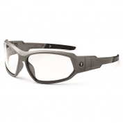Ergodyne Loki 56103 Safety Glasses/Goggles - Matte Gray Frame - Clear Fog-Off Anti-Fog Lens