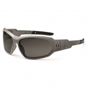 Ergodyne Loki 56133 Safety Glasses/Goggles - Matte Gray Frame - Smoke Fog-Off Anti-Fog Lens