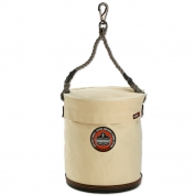 Ergodyne Arsenal 5743T Large Plastic Bottom Bucket with Swivel Clip - Top Included