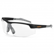 Ergodyne Skoll 59003 Safety Glasses - Matte Black Frame - Clear Fog-Off Anti-Fog Lens