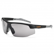 Ergodyne Skoll 59033 Safety Glasses - Matte Black Frame - Smoke Fog-Off Anti-Fog Lens