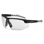 Ergodyne Skoll 59083 Safety Glasses - Matte Black Frame - Indoor/Outdoor Fog-Off Anti-Fog Lens