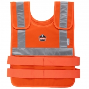 Ergodyne Chill-Its 6200HVR Cooling Vest with Charge Packs - Orange
