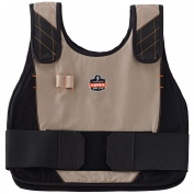 Ergodyne Chill-Its 6215 Premium Cooling Vest with Charge Pack - Khaki