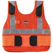 Ergodyne Chill-Its 6215HV Premium Cooling Vest with Charge Pack - Hi-Vis Orange
