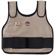 Ergodyne Chill-Its 6230 Standard Cooling Vest with Charge Pack - Khaki