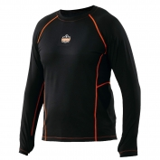 Ergodyne N-Ferno 6435 Base Layer Thermal Long Sleeve Shirt - Black