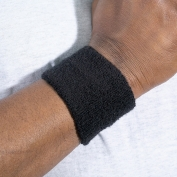 Ergodyne Chill-Its 6500 Wrist Sweatband - Black