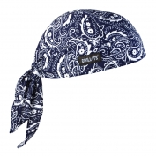 Ergodyne Chill-Its 6615 High Performance Dew Rag - Navy Western