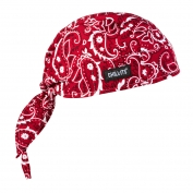 Ergodyne Chill-Its 6615 High Performance Dew Rag - Red Western