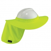Ergodyne Chill-Its 6660 Hard Hat Brim with Shade - Yellow/Lime