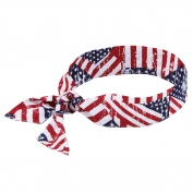 Ergodyne Chill-Its 6700 Evaporative Cooling Bandana  with Tie Closure - Stars & Stripes
