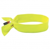Ergodyne Chill-Its 6700FR Cooling FR Bandana with Polymers & Tie Closure - Yellow/Lime
